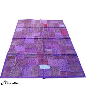 Tapete Pathwork - 145 x 95 cm - Artesanal - Varios Colores