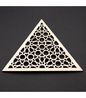 Celosía Árabe Triangular - Madera Laminada - Diseño Muzalaz