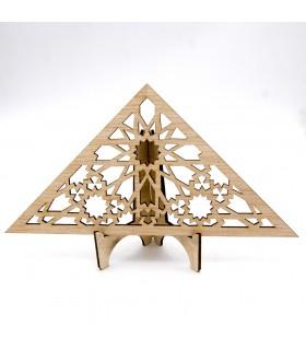 Celosía Árabe Triangular - Madera Laminada - Diseño Muzalazat