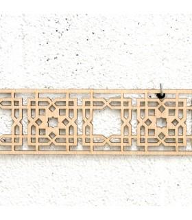 Celosía Árabe Madera 10x50cm - Diseños Geométricos - Corte por Laser - Modelo TIH