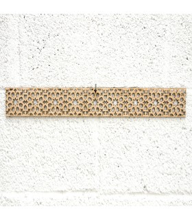Celosia Árabe Madera 10x50cm - Diseños Geométricos - Corte por Laser - Modelo alnujum