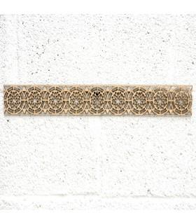 Celosía Árabe Madera 10x50cm - Diseños Geométricos - Corte por Laser - Modelo aldawayir