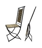 Cadeiras de ferro forjado