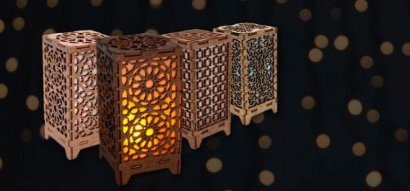 Farolillos para velas árabes baratos. Portavelas de cristal y quinqués